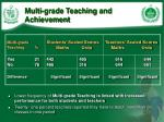 multi grade teaching and achievement