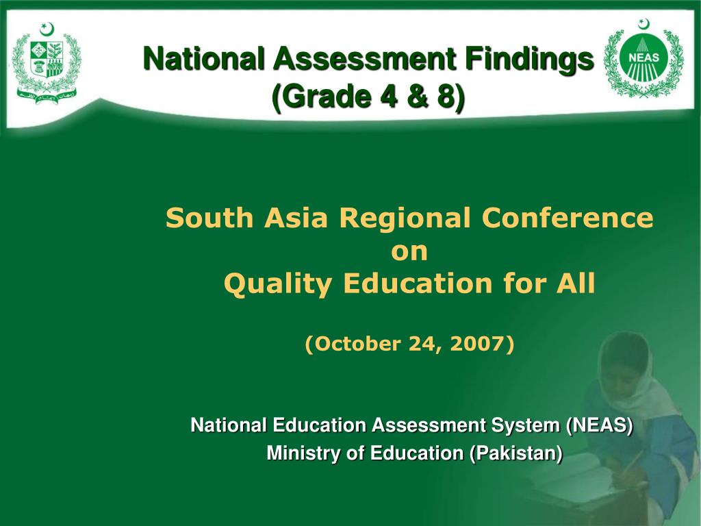 national assessment findings grade 4 8 l.