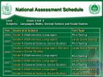 national assessment schedule
