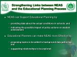 strengthening links between neas and the educational planning process