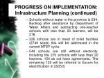 progress on implementation infrastructure planning continued31