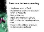 reasons for low spending