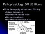pathophysiology dm le ulcers