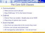the core g2s classes
