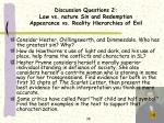discussion questions 2 law vs nature sin and redemption appearance vs reality hierarchies of evil