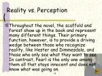 reality vs perception
