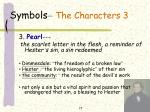 symbols the characters 3