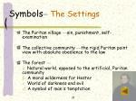 symbols the settings