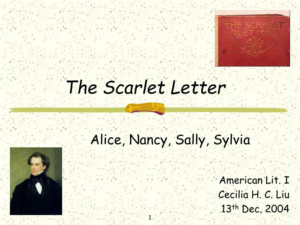 the scarlet letter l.