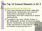 the top 10 ironical elements in sc 2