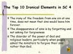 the top 10 ironical elements in sc 4