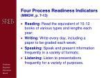 four process readiness indicators mmgw p 7 13