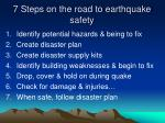 7 steps on the road to earthquake safety