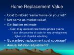 home replacement value