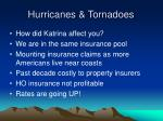 hurricanes tornadoes