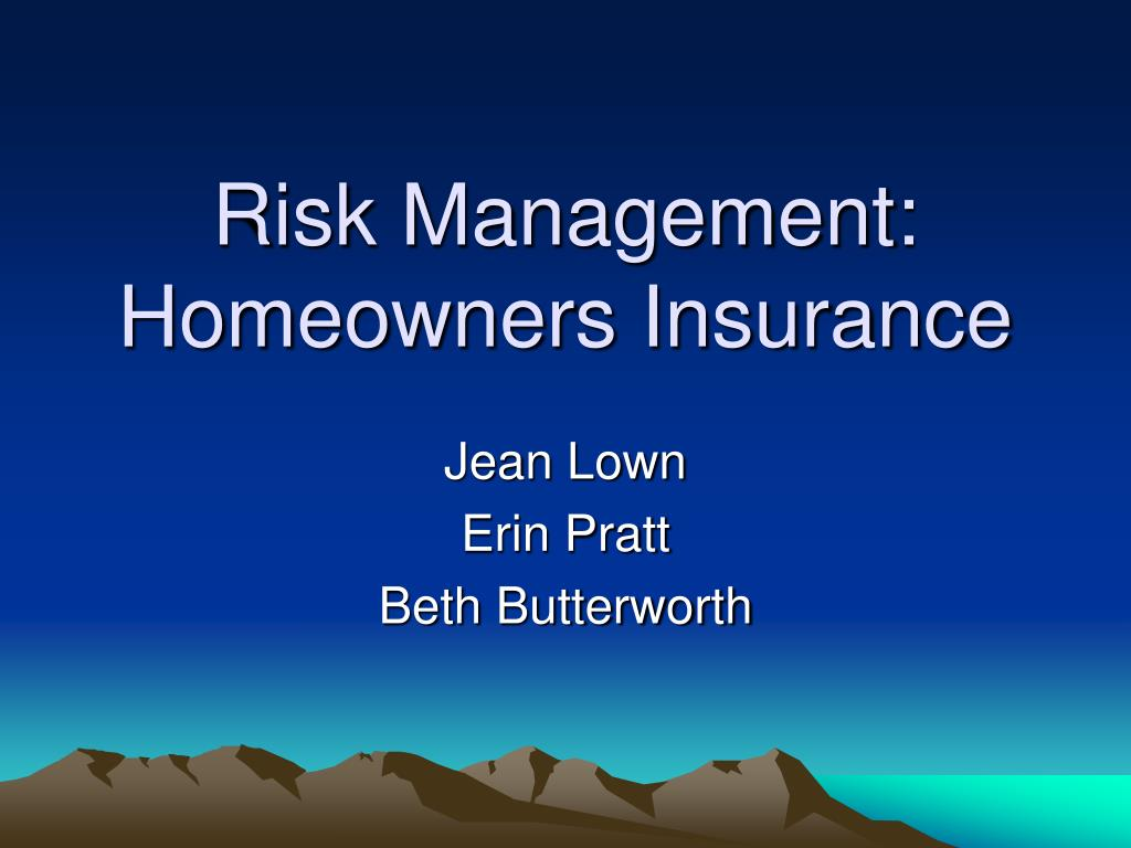 risk management homeowners insurance l.