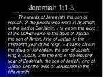 jeremiah 1 1 3