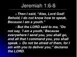 jeremiah 1 6 8