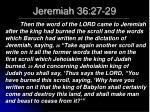 jeremiah 36 27 29