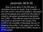 jeremiah 36 9 10