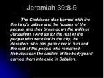 jeremiah 39 8 9