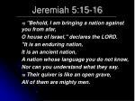 jeremiah 5 15 16