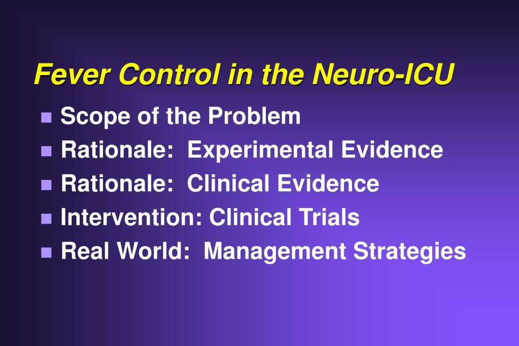 Fever Control in the Neuro-ICU