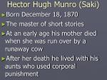 hector hugh munro saki