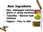 main ingredients