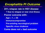 encephalitis pt outcome