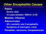 other encephalitis causes