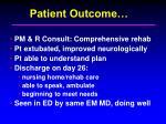 patient outcome