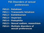 f65 disorders of sexual preferences