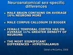 neuroanatomical sex specific differences