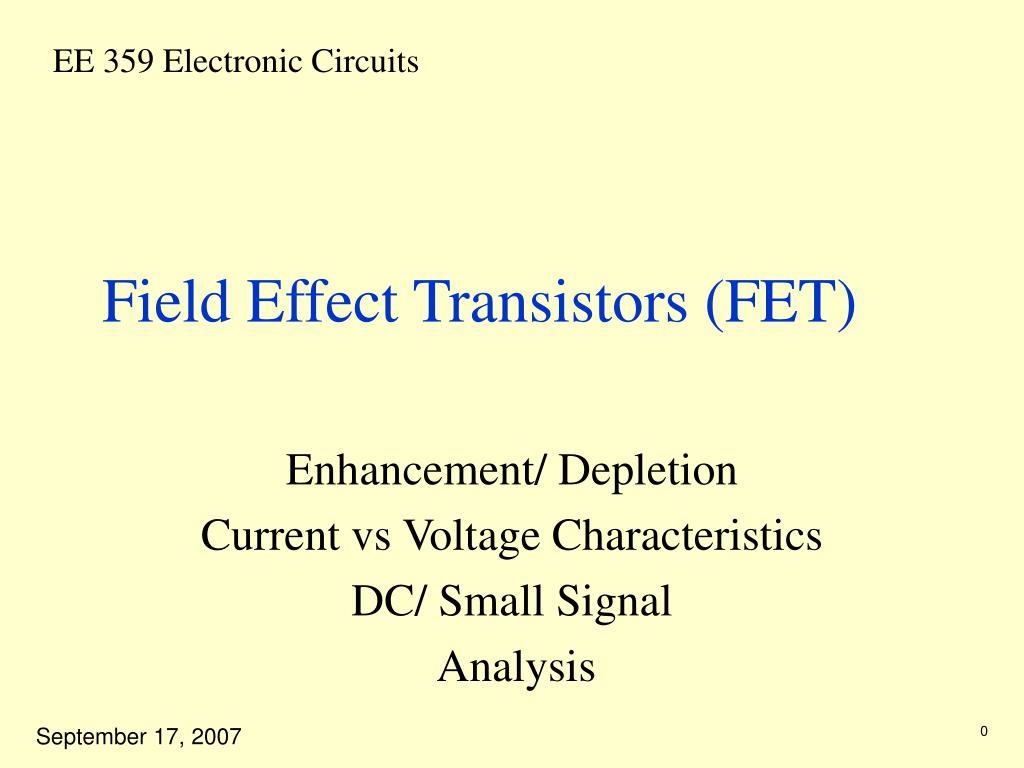 field effect transistors fet l.