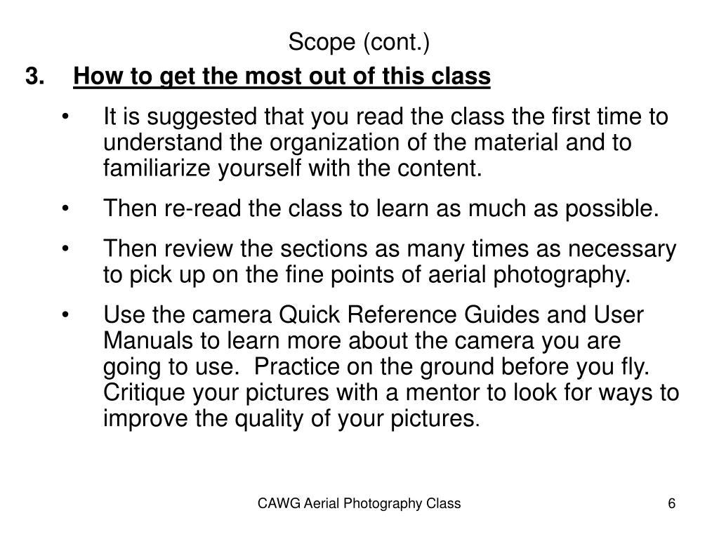 Scope (cont.)