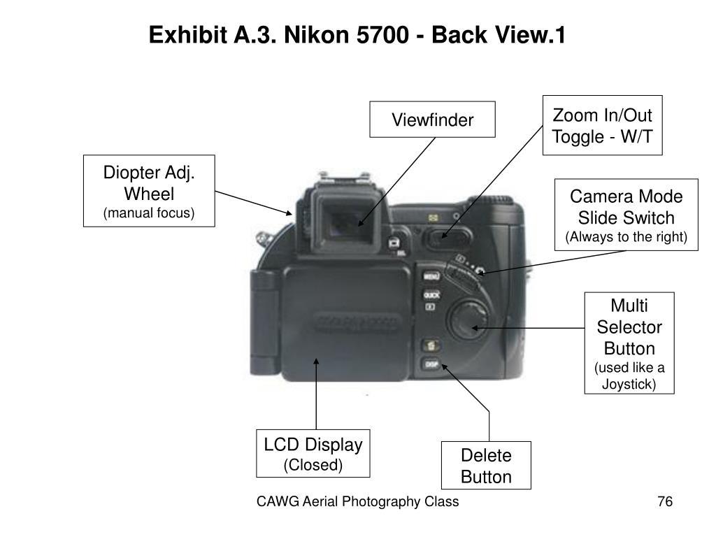 Exhibit A.3. Nikon 5700 - Back View.1