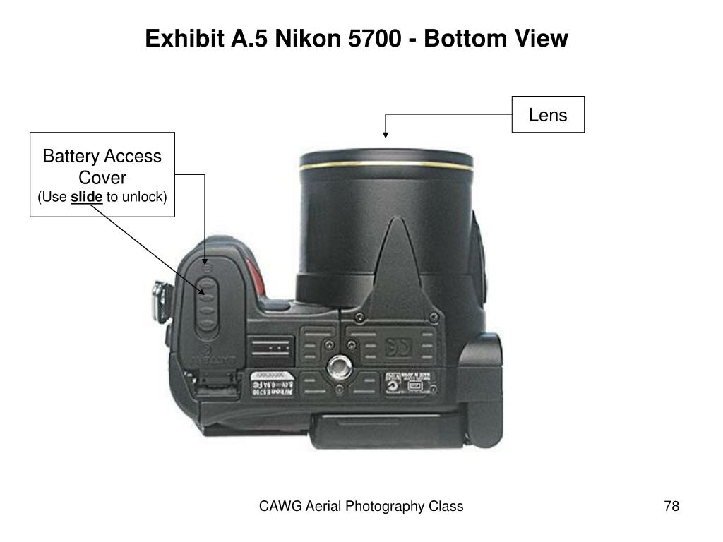 Exhibit A.5 Nikon 5700 - Bottom View
