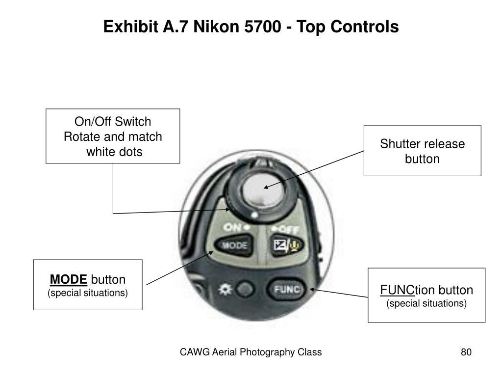 Exhibit A.7 Nikon 5700 - Top Controls
