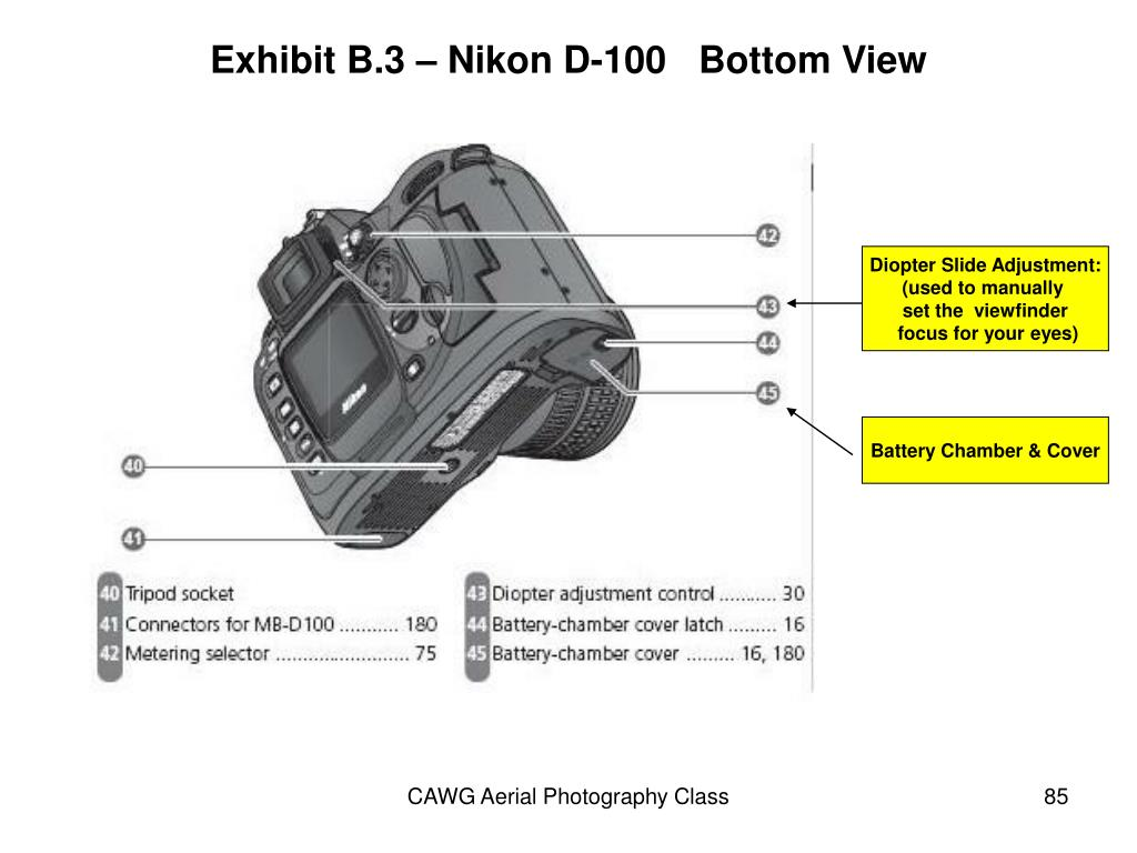 Exhibit B.3 – Nikon D-100   Bottom View