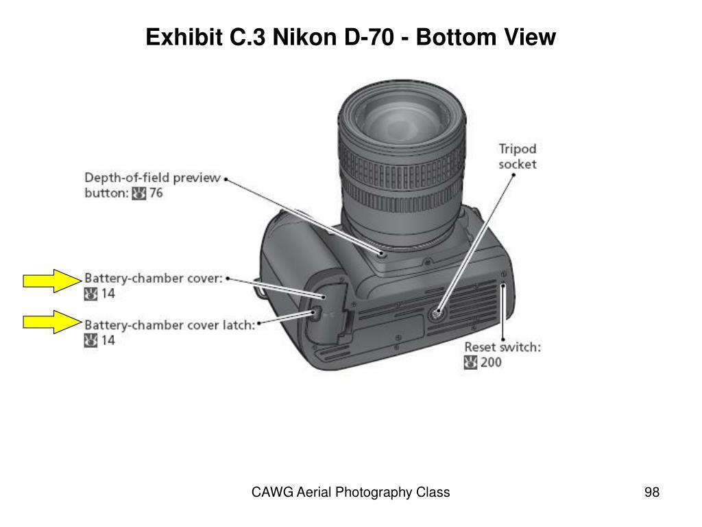Exhibit C.3 Nikon D-70 - Bottom View