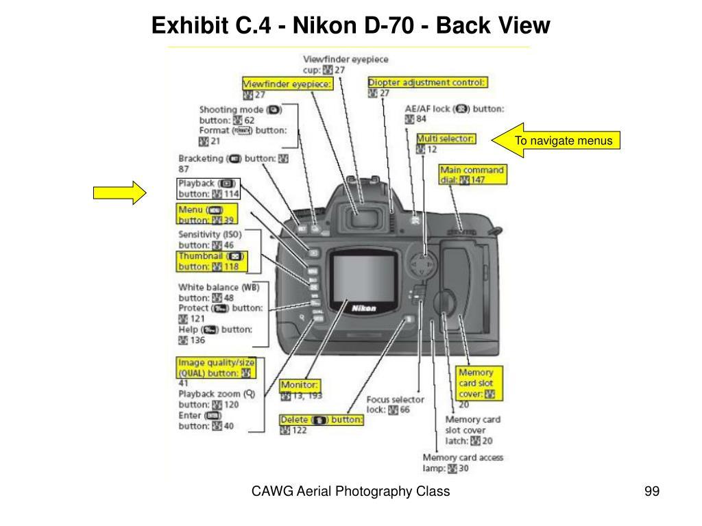 Exhibit C.4 - Nikon D-70 - Back View