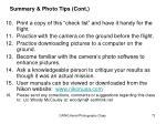 summary photo tips cont