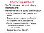 interacting machines