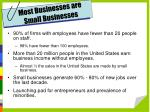 most businesses are small businesses