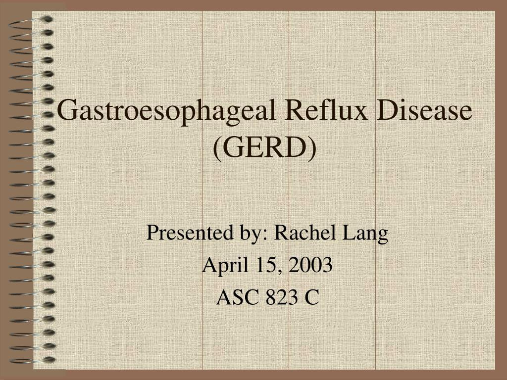 gastroesophageal reflux disease gerd l.