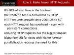 rule 1 make fewer http requests