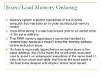 store load memory ordering