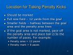 location for taking penalty kicks