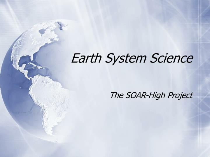 earth system science n.